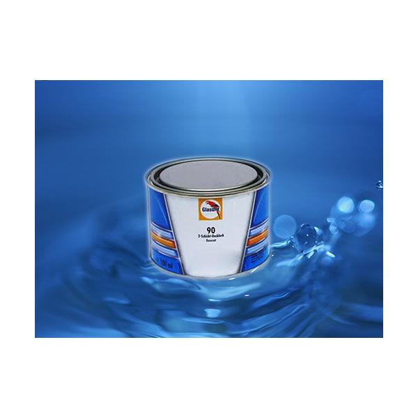 GLASURIT TINTA BASE 90-M 99/01 ALLUMINIO EXTRA FINE 0,5 lt